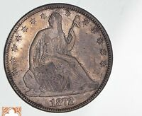1872 SEATED LIBERTY SILVER HALF DOLLAR 1120