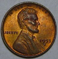 1953-D LINCOLN CENT, MINT STATE