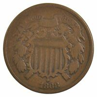 1868 TWO-CENT PIECE J09