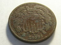 1869 TWO CENT PIECE GOOD DIRTY