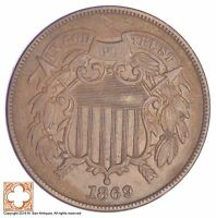 1869 TWO CENT PIECE YB29