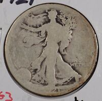 1921 50C WALKING LIBERTY HALF DOLLAR ABOUT GOOD CONDITION 161379