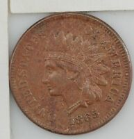 1865 INDIAN HEAD ONE CENT 608