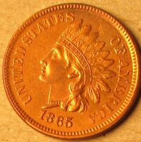 1865 INDIAN CENT FANCY 5 VARIETY LOT'S OF RED AU/CHOICE MS