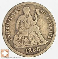 1888 SEATED LIBERTY SILVER DIME 3286