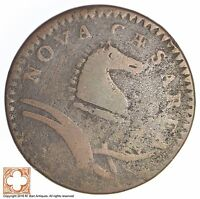 1786 1787 NEW JERSEY SHIELD COPPER CENT 635