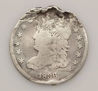 1836 CAPPED BUST SILVER HALF DIME G13