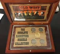 V NICKEL OBSOLETE RACKETEER COLLECTION 1909 1912 IN WOODEN BOX