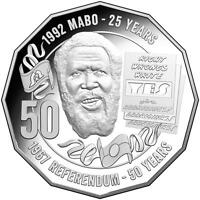 AUSTRALIAN FIFTY 50C CENT COIN   2017   MABO PRIDE & PASSION   RAM FROM MINT BAG