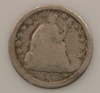 1853 P SEATED LIBERTY SILVER HALF DIME 034