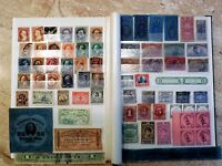OLD ESTATE STOCK BOOK U.S. COLLECTION LOT 1860'S TO WWII; HUNDREDS OF OLD STAMPS