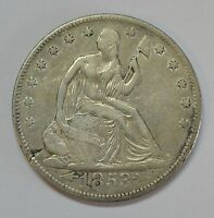 1853 O  ARROWS & RAYS  SEATED LIB. HALF DOLLAR  YOU BE THE JUDGE OF THE GRADE