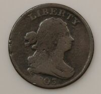 1803 DRAPED BUST WIDELY SPACED 3 HALF CENT G61