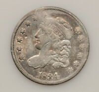 1834 CAPPED BUST SILVER HALF DIME G27