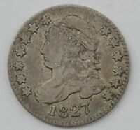 1827 CAPPED BUST ONE DIME Q14