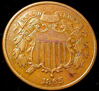 1865 TWO CENT 2C PIECE    COIN  02GA