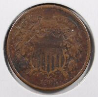1865 TWO CENT PIECE  FINE CONDITION 153208