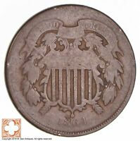 1864 TWO CENT PIECE 1742