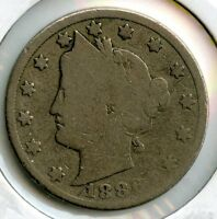 1886 LIBERTY V NICKEL -  COIN - FIVE CENTS - AM63