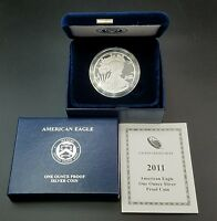 2011-W PROOF AMERICAN SILVER EAGLE COIN .999 1 TROY OUNCE