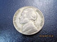 1945S VF  JEFFERSON SILVER WAR NICKEL JN0725   49 CENT SHIPPING