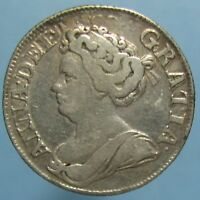 1711 QUEEN ANNE SHILLING   THIRD BUST IN FINE   CONDITION