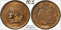 Click now to see the BUY IT NOW Price! 1908 INDIAN CENT 1C MPD FS 301 S 4 PCGS MS64RB   POP 3/1  JUST ONE HIGHER