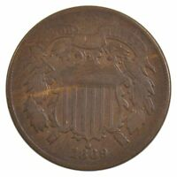 1869 TWO-CENT PIECE J80