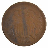 1869 TWO-CENT PIECE J74