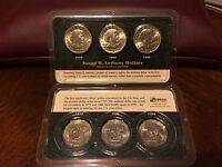 SUSAN B. ANTHONY 3 COIN UNCIRCULATED SET 1979 1980 1999