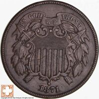 1871 TWO CENT PIECE 4571