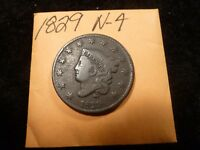 1829 N4 R4 EX ANACS MATRON HEAD LARGE CENT - SELLING SEPARATELY US TYPE COINS