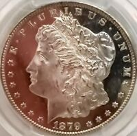 1879-S MORGAN PCGS MINT STATE 64 DMPL CAC FROSTY CAMEO DEEP MIRROR PROOF LIKE LOOKS 65