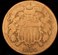 1865 SHIELD TWO CENT-   BETTER DATE  T1888