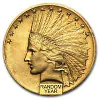 $10 INDIAN GOLD EAGLE XF  RANDOM YEAR    SKU 14241