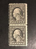 TDSTAMPS: US STAMPS SCOTT507 7C WASHINGTON MINT NH OG PAIR CV$150.00