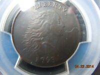 1793 CHAIN LARGE CENT PCGS XF DETAILS WITH PERIODS S 3 B 4 R 3 BEAUTIFUL COIN