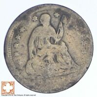 ND SEATED LIBERTY SILVER HALF DIME  XB27