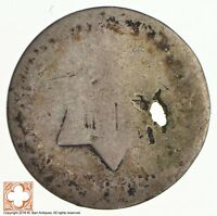 1851 THREE CENT PIECE   SILVER  CONDITION: HOLE  9159