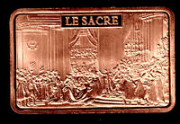 BRONZE PLATED BAR : NAPOLEON AND HIS CORONATION