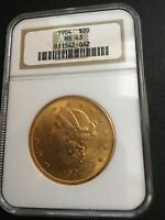 1904 $20 GOLD LIBERTY HEAD  NGC 63