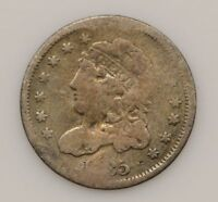 1835 CAPPED BUST SMALL DATE & 5 C SILVER HALF DIME G30