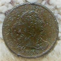1804 DRAPED BUST HALF CENT 1/2C 1/2 CENT COIN-ABOUT GOOD-OVER 200 YEARS OLD
