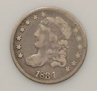 1834 CAPPED BUST SILVER HALF DIME G32
