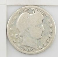 1905 BARBER/LIBERTY HEAD QUARTER DOLLAR  Z89