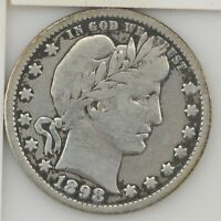 1898 O BARBER/LIBERTY HEAD QUARTER DOLLAR  Z12