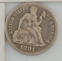 1891 LIBERTY SEATED DIME  Z41