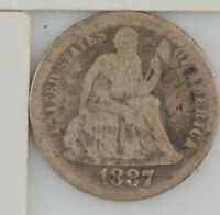 1887 LIBERTY SEATED DIME  Z14