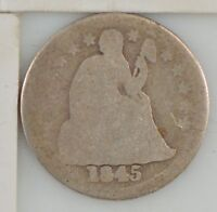 1845 LIBERTY SEATED DIME  Z63