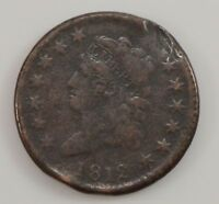 1812 CLASSIC HEAD LARGE DATE LARGE CENT G83